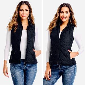 J Crew Quilted Vest With Double Zipper NWOT